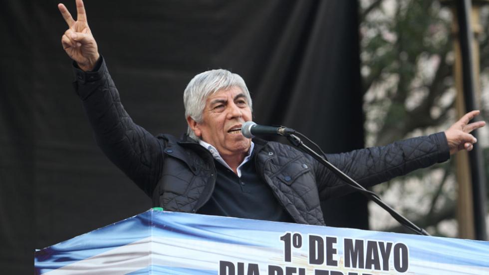 Hugo Moyano, lider de la CGT Azopardo