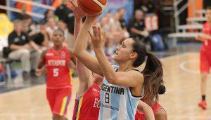 Gisela Vega fue la figura de Argentina en el torneo. Argentina perdió en semifinales ante Brasil.