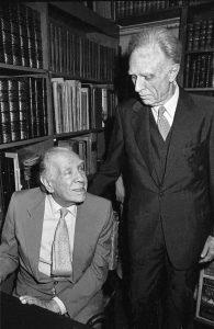 Borges junto a su gran amigo Bioy Casares