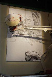 Obra pintada en vivo por Alfredo Segatori
