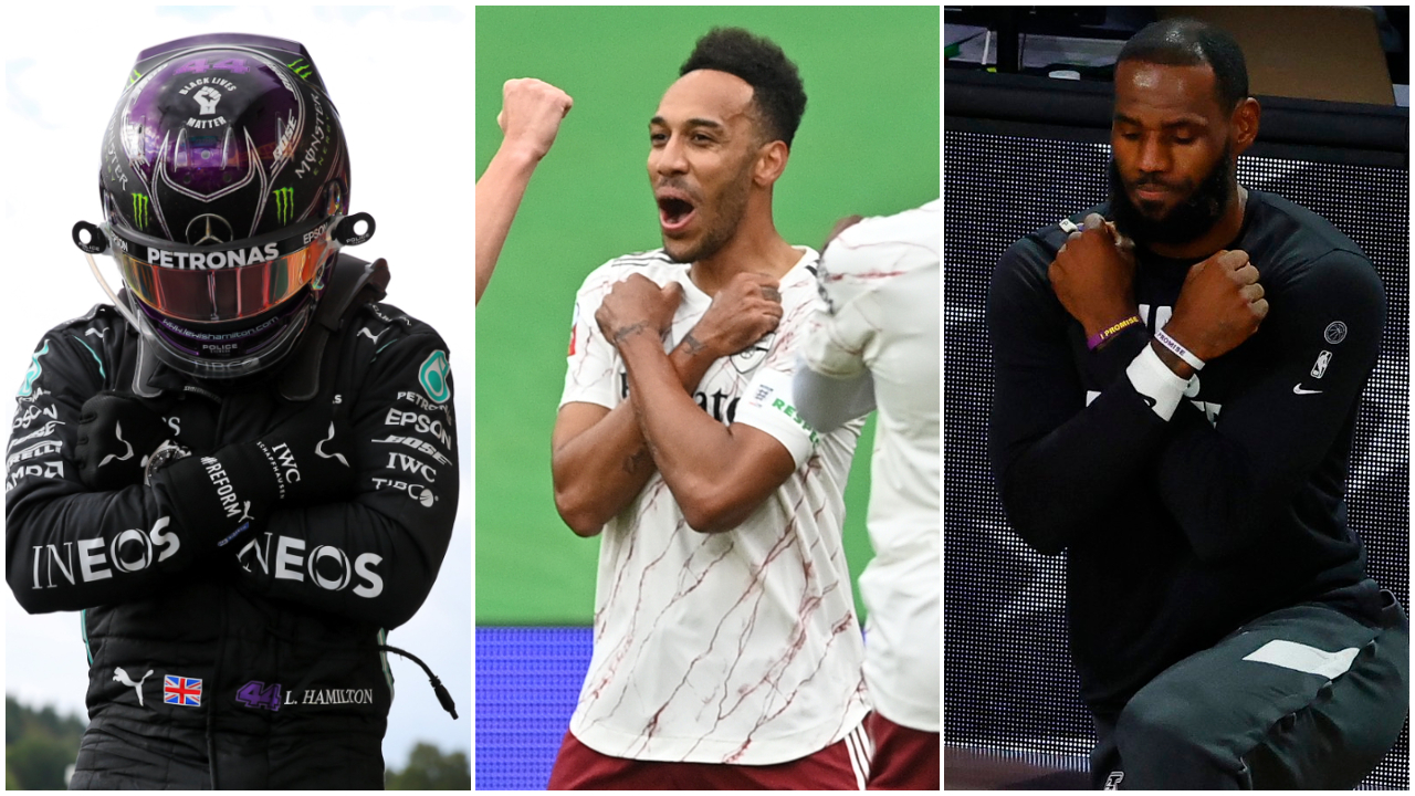 "Hamilton, Aubameyang y LeBron James realizan el gesto de ""Wakanda for ever"" en honor a Boseman"